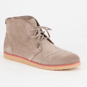 TOMS Mateo Chukka Suede Desert Bootie Lace Up